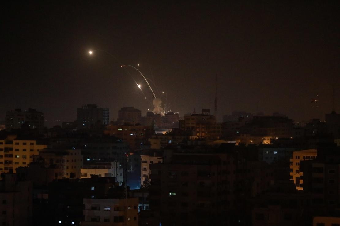Израильская армия ударила по разным пунктам сектора Газы. Газа, 15 марта 2019 года.