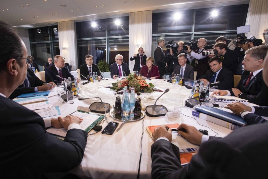 Зустріч глав держав «нормандської четвірки» у Берліні в жовтні 2016 року.