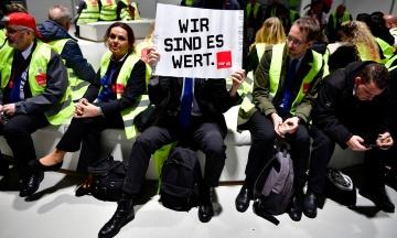 В Германии отменили сотни рейсов. В аэропортах начинается забастовка работников служб безопасности
