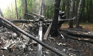 Военные назвали версии крушения вертолета в Ровенской области
