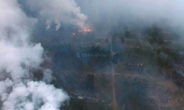 Пожар на арсенале под Ичней погасили