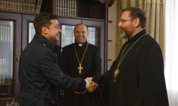 Зеленський зустрівся з главою Української греко-католицької церкви
