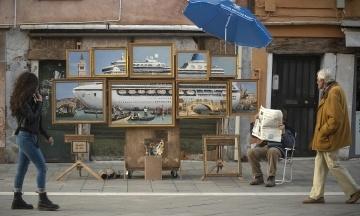 Вуличний художник Бенксі присвятив свою нову картину Венеції та захотів на бієнале