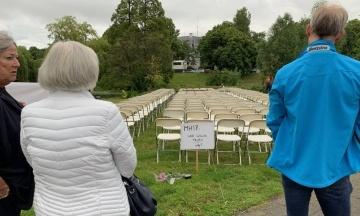 Під посольством Росії в Нідерландах протестували родичі жертв катастрофи MH17