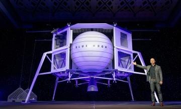 «Время возвращаться на Луну, в этот раз, чтобы остаться». Джефф Безос представил макет аппарата для высадки на Луну