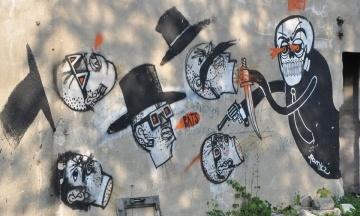 У Москві проходить виставка робіт Бенксі. Художник каже, що він тут ні до чого