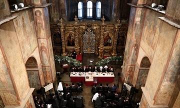 Появилось фото с Объединительного собора, который проходит в Софии Киевской