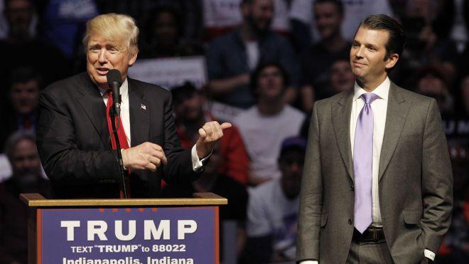 Трамп признал встречу сына с россиянкой ради «информации о Хиллари»