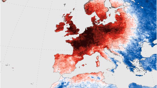 Аномальная жара в Европе: в Испании погибли пять человек, в реке Рейн мор рыбы