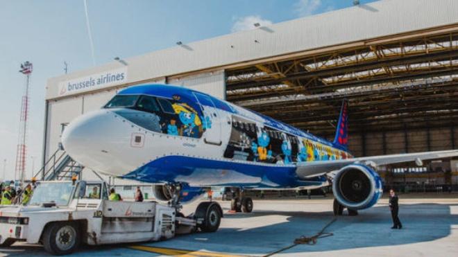 Brussels Airlines у перший рейс в Україну відправить літак із казковими гномами