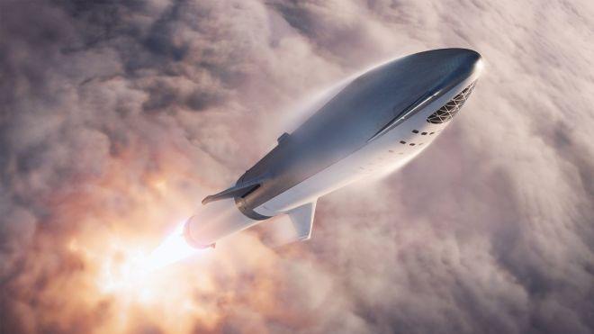 Маск показал ракету, которая отправит туристов в путешествие на Луну. Фотография