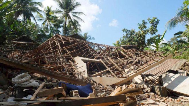 Количество жертв землетрясения в Индонезии достигло 347. Спасатели ищут выживших