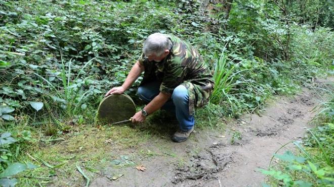 Британец нашел в лесу 130-летнее надгробие. Оказалось, что там похоронен не человек