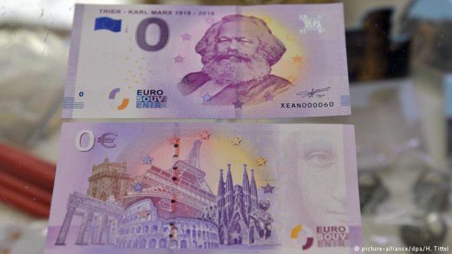 На родине Маркса продали 100 тыс. купюр номиналом ноль евро. Они принесли авторам не менее €300 тыс.