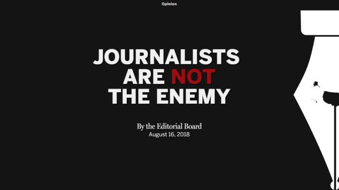 350 американских изданий призвали Трампа не делать их врагами народа. Он ответил: это фейковые новости