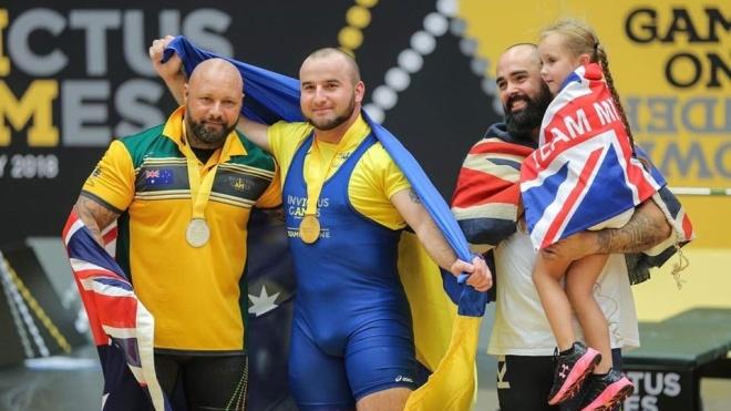 Украинский ветеран завоевал «золото» по пауэрлифтингу на «Играх непокоренных»