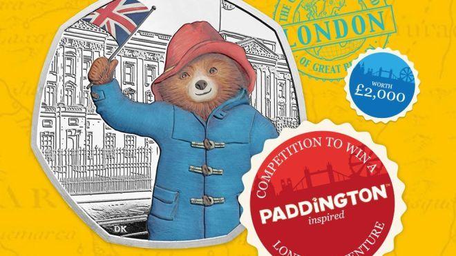 В Британии выпустили монеты к 60-летию медвежонка Паддингтона