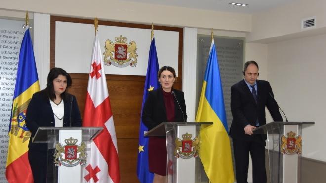 Украина, Грузия и Молдова объединили усилия в борьбе с российской оккупацией