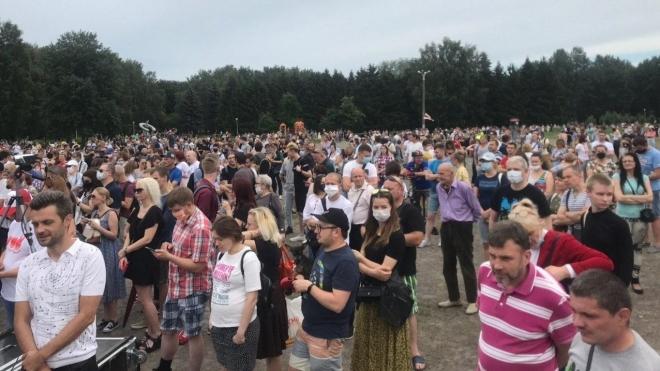 У Мінську триває масовий мітинг кандидатки Тихановської. Присутні понад 7 тисяч людей
