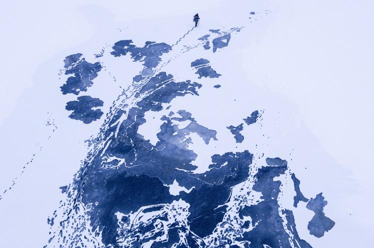 Зимова рибалка на Дніпрі. 19 січня 2018 року.