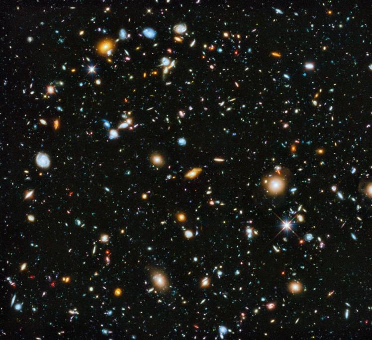 Снимок участка неба Hubble Deep Field 2014 года.