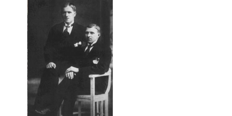 <p>Жуков (ліворуч), 1913 рік.</p>