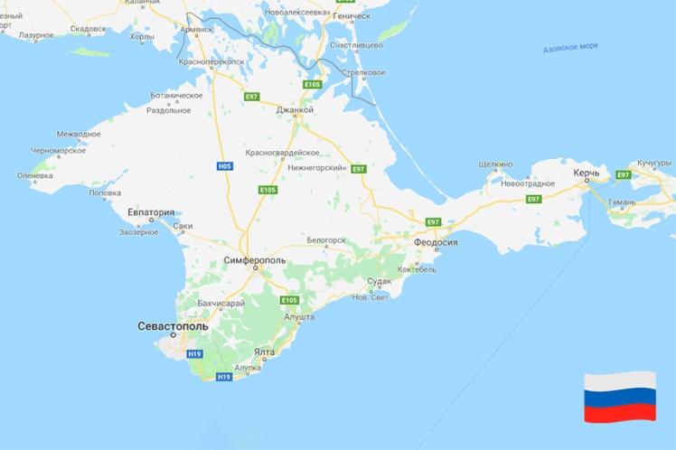 Ось так виглядає карта Google, якщо відкрити її з російського IP-адреси
