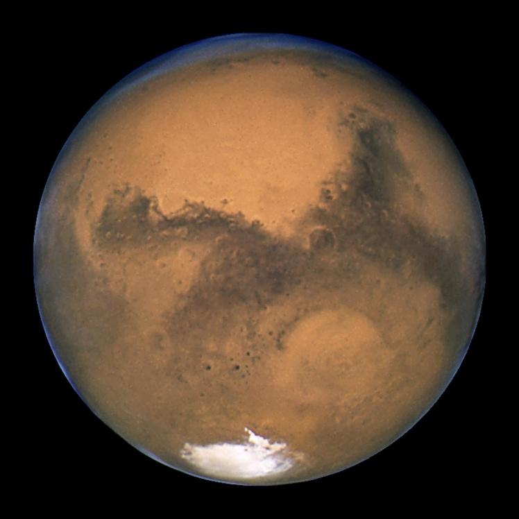 Снимок Марса 2017 года.