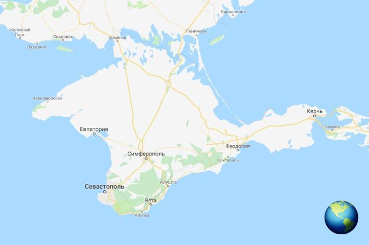 Вот так выглядит карта Google, если открыть ее с IP-адреса Украины