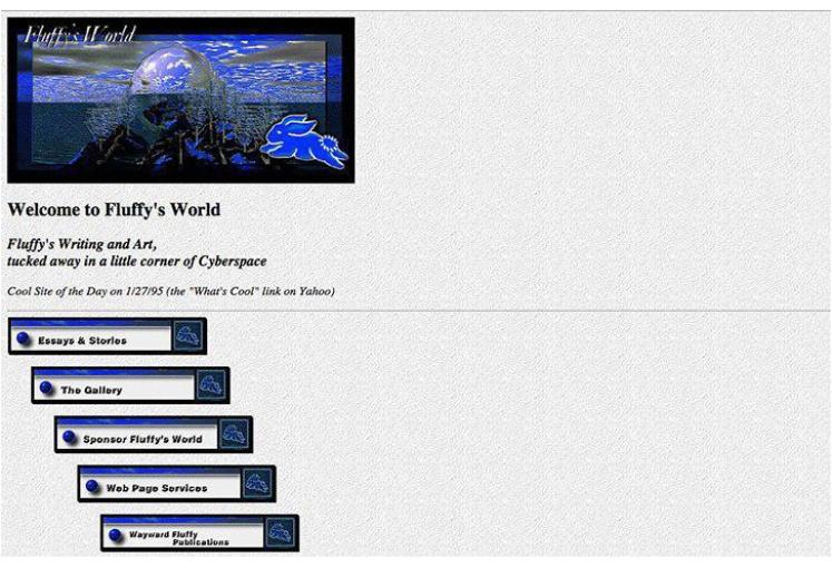 Мир кролика Флаффи. Сайт с коллекцией изображений и историй, созданный в 1994 году