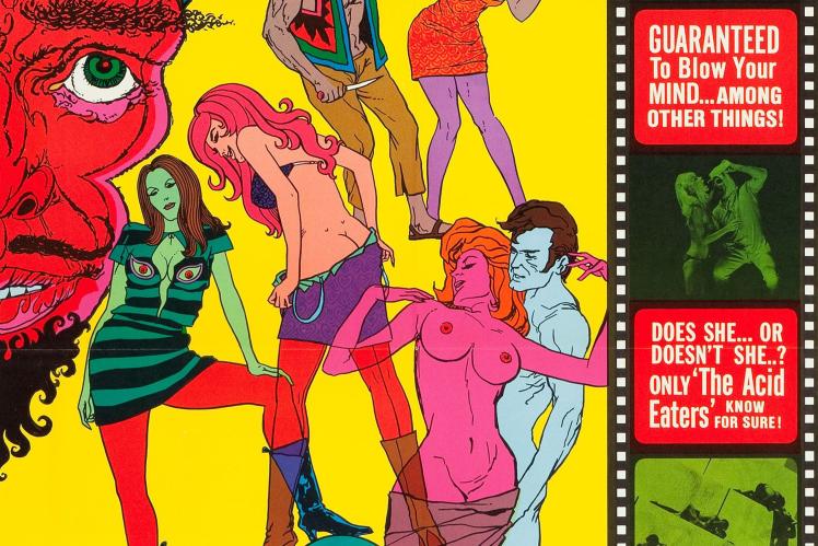 Постер киноленты The Acid Eaters («Пожиратели кислоты») 1968 года.