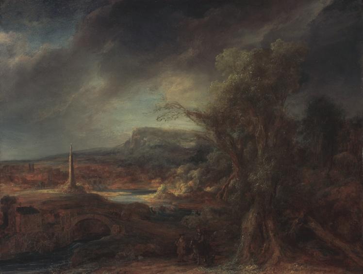 Говерт Флинк, «Пейзаж с обелиском».