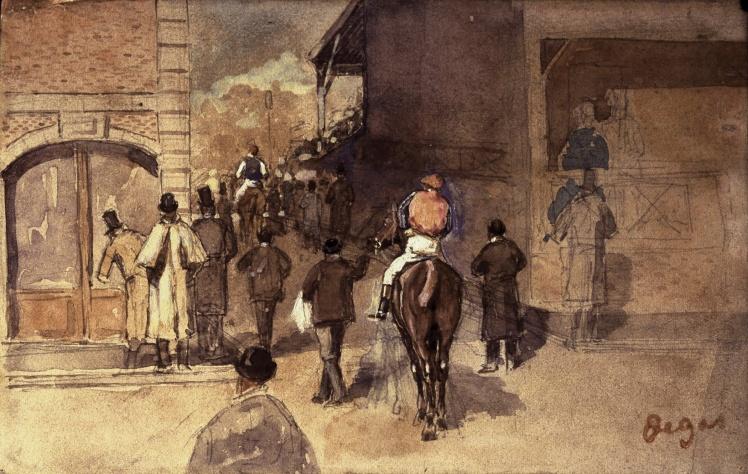 Эдгар Дега, «На скачках». Общая оценка всех похищенных работ Дега — примерно 100 миллионов долларов.