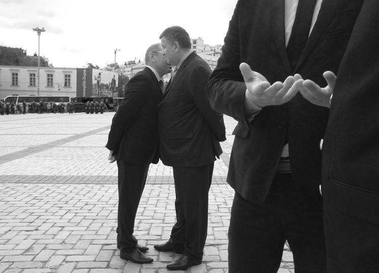Народний депутат Сергій Пашинський та голова МВС Арсен Аваков.