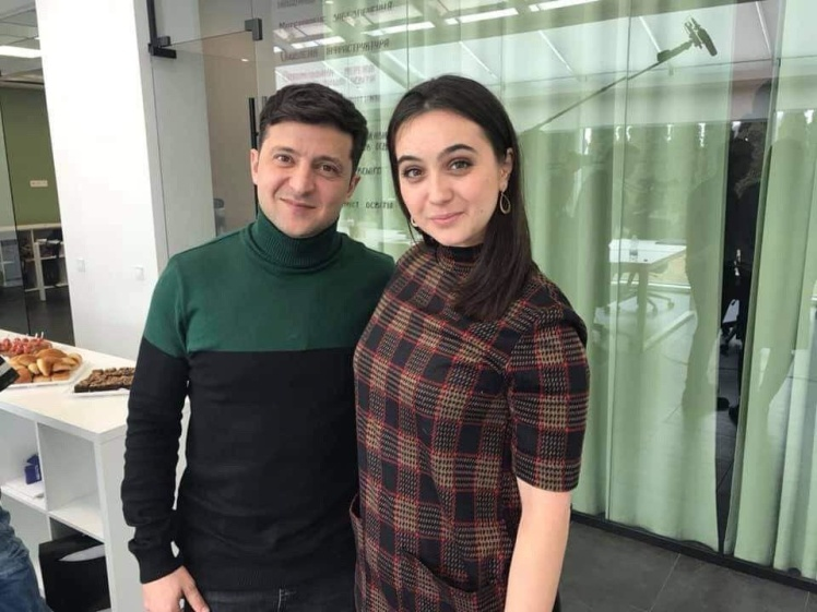 <p>Володимир Зеленський та Юлія Мендель</p>