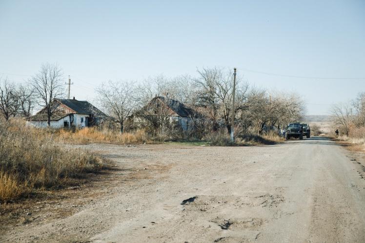 Селище Богданівка в Донецькій області в кількох кілометрах від лінії фронту, листопад 2019 року.