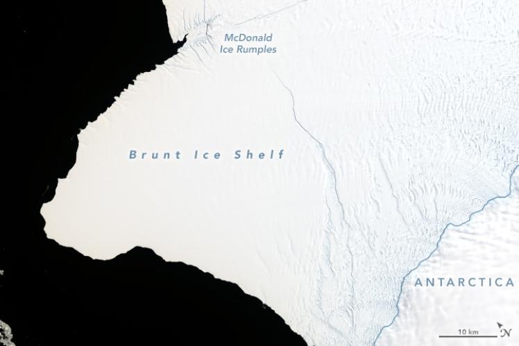 Ледник Бранта, 23 января 2019 года