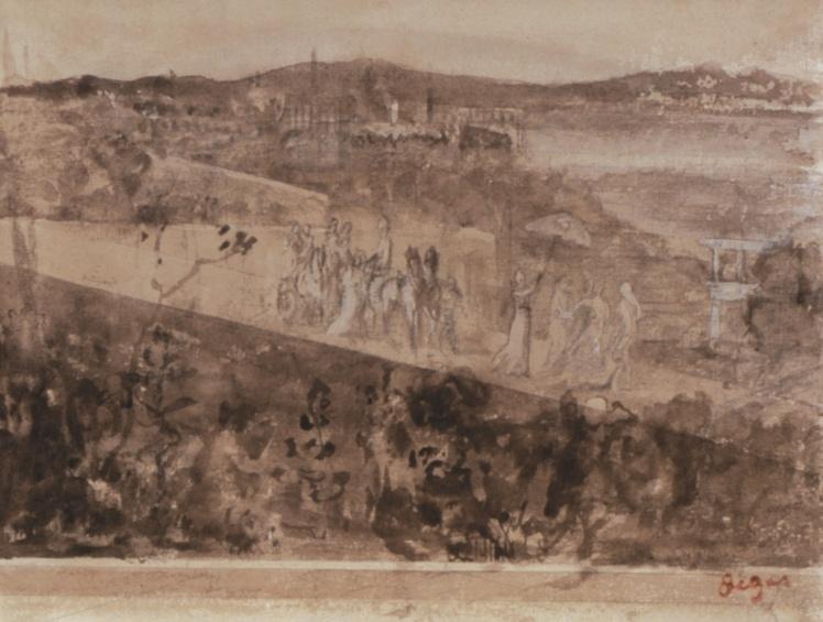 Эдгар Дега, «Кортеж в пригороде Флоренции».