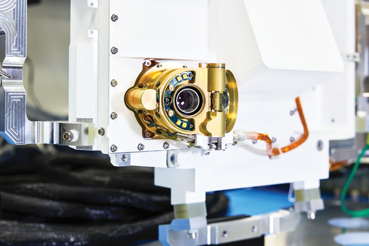 Спектрометр SHERLOC на роботизованій руці марсохода Perseverance буде визначати, які зразки варто взяти для вивчення їх на Землі.