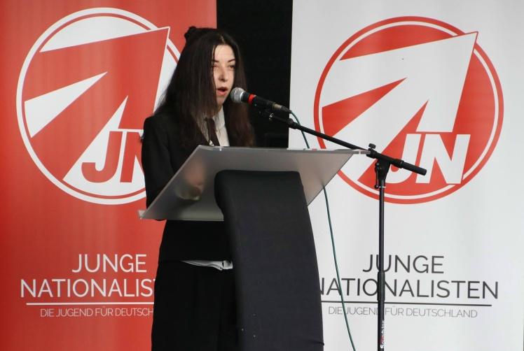 Олена Семеняка на  конференції [RE]generation.Europa у Німеччині. 12 травня 2018 року.