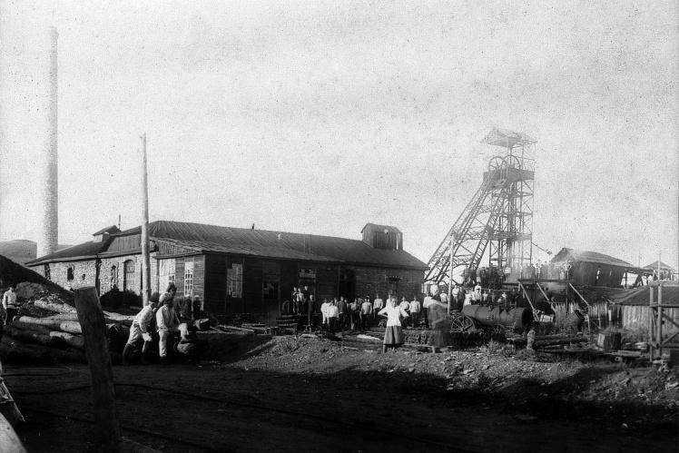 Общий вид шахты Карловского рудоуправления, Луганская область, 1920-е