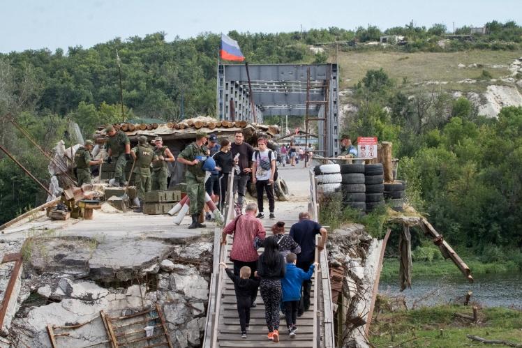 Перехід у Станиці Луганській з боку бойовиків «ЛНР», вересень 2019 року.