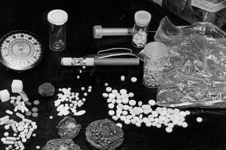 ЛСД и другие наркотики в лаборатории, 1969 год.