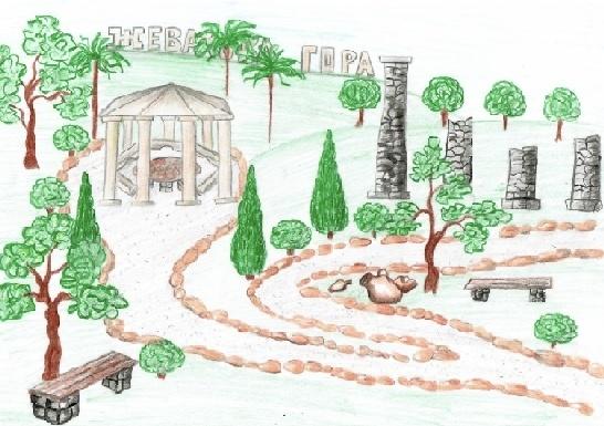 Визуализация проекта по благоустройству Жеваховой горы.