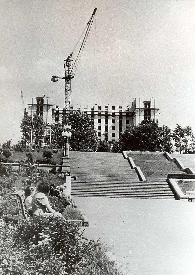 Строительство отеля «Москва». 1957 год.