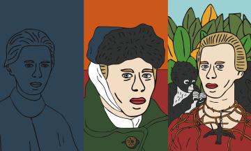 «Десять лиц Леси» — новая выставка автора «Квантового скачка Шевченко» Александра Грехова. Он рассказал «Бабелю», как работает после скандала, переосмысливает известных людей и почему всегда рисует в телефоне