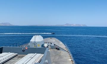ФСБ опубликовала видео со стрельбой во время инцидента с британским кораблем у берегов Крыма