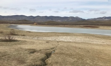 В оккупированном Крыму почти исчезло большое пресноводное озеро Бугаз