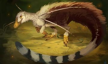 В доисторический Бразилии жил небольшой динозавр, похожий на райскую птицу. Ученые считают, что он имел пышную гриву и другие украшения