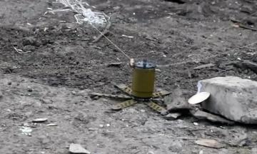 На Донбассе дрон боевиков второй раз за неделю сбросил запрещенную мину ПОМ-2. Открыто уголовное производство